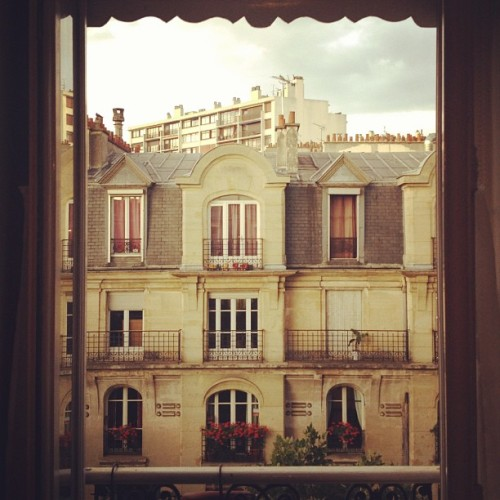 theferocity:  The view from my studio for the week here in Paris. (Taken with Instagram)