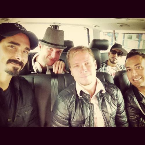 Backstreet Boys Facebook | Day #1 On the way to the studio.