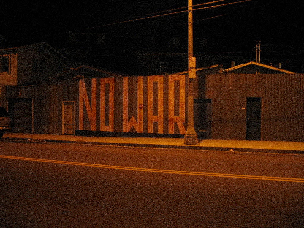 "nosecretsbetweensailors:  ""No war"" (by No Secrets Between Sailors)"