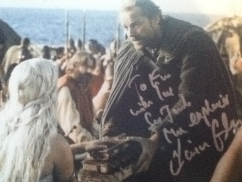 mattssmiths:  Iain Glen signing as 'Ser Jorah the Explorer'
