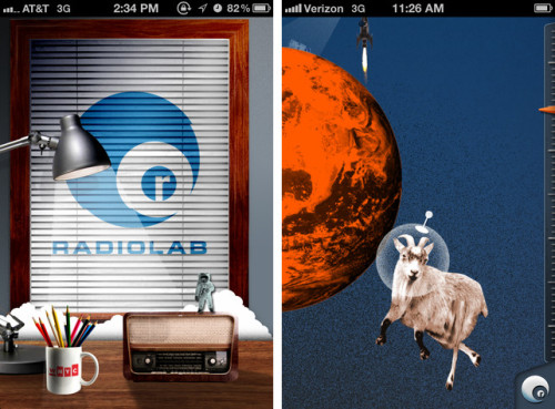Radiolab's quirky new iPhone app.