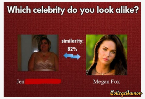 Woman Apparently Looks Like Megan Fox That must be one heck of an 18% that's missing.
