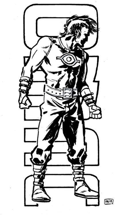 OMAC inks for Sketch Request Mondays.this was requested by @TravisEllisor on twitter.   I went with a mix of the original Kirby, Paul Pope and some of my own sensibilities. Think it turned out pretty nicely.