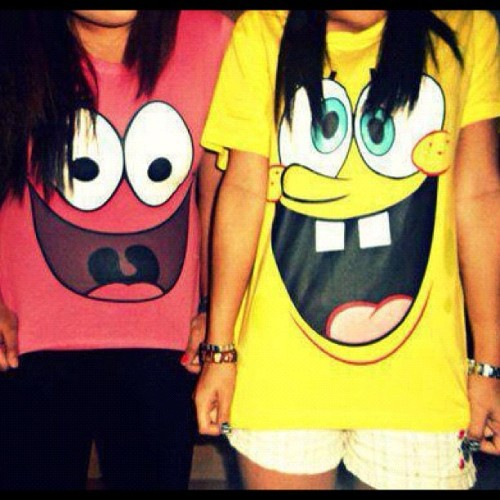 #spongebob #patrick #tshirts #cartoons (Taken with Instagram)