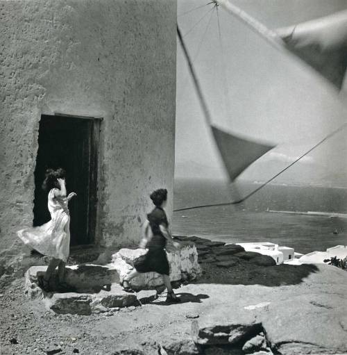 """Windmill"", photo by Ernst Haas, Greece, 1952"