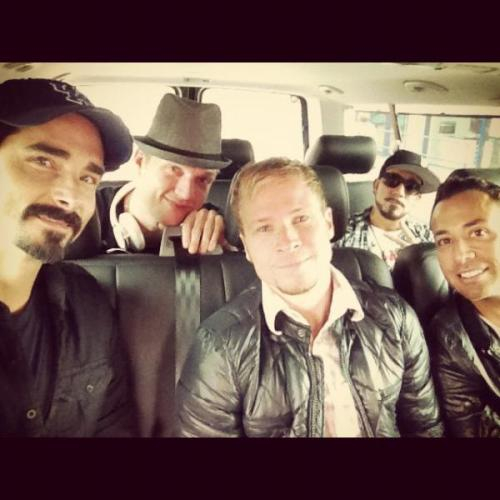 backstreet-team:  backstreetboys:  Day #1 On the way to the studio. (Via Kevin Richardson's Twitter)  <= #fabfivebacktogetheragain ^.^  Oh my freaking goodness!!!