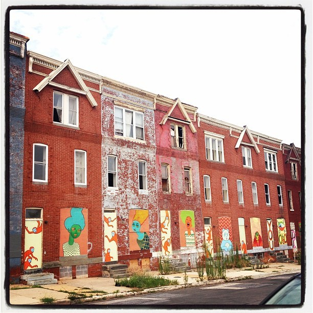 comelycreatures:  In Baltimore, art is everywhere. (Taken with Instagram)