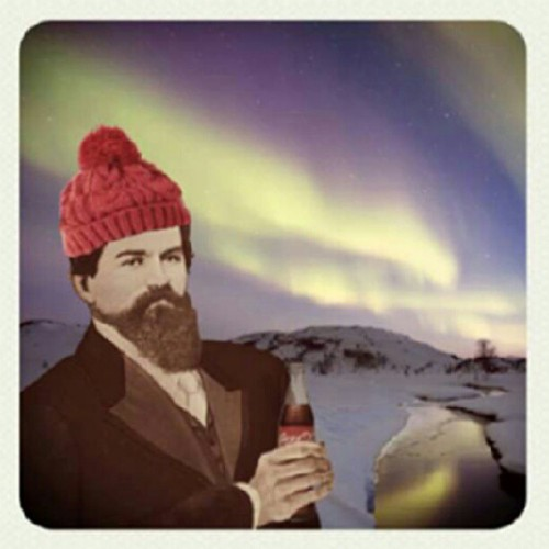 "The northern lights do not take requests. You will be shouting ""SPELL COCA-COLA!"" in vain. (Taken with Instagram)"