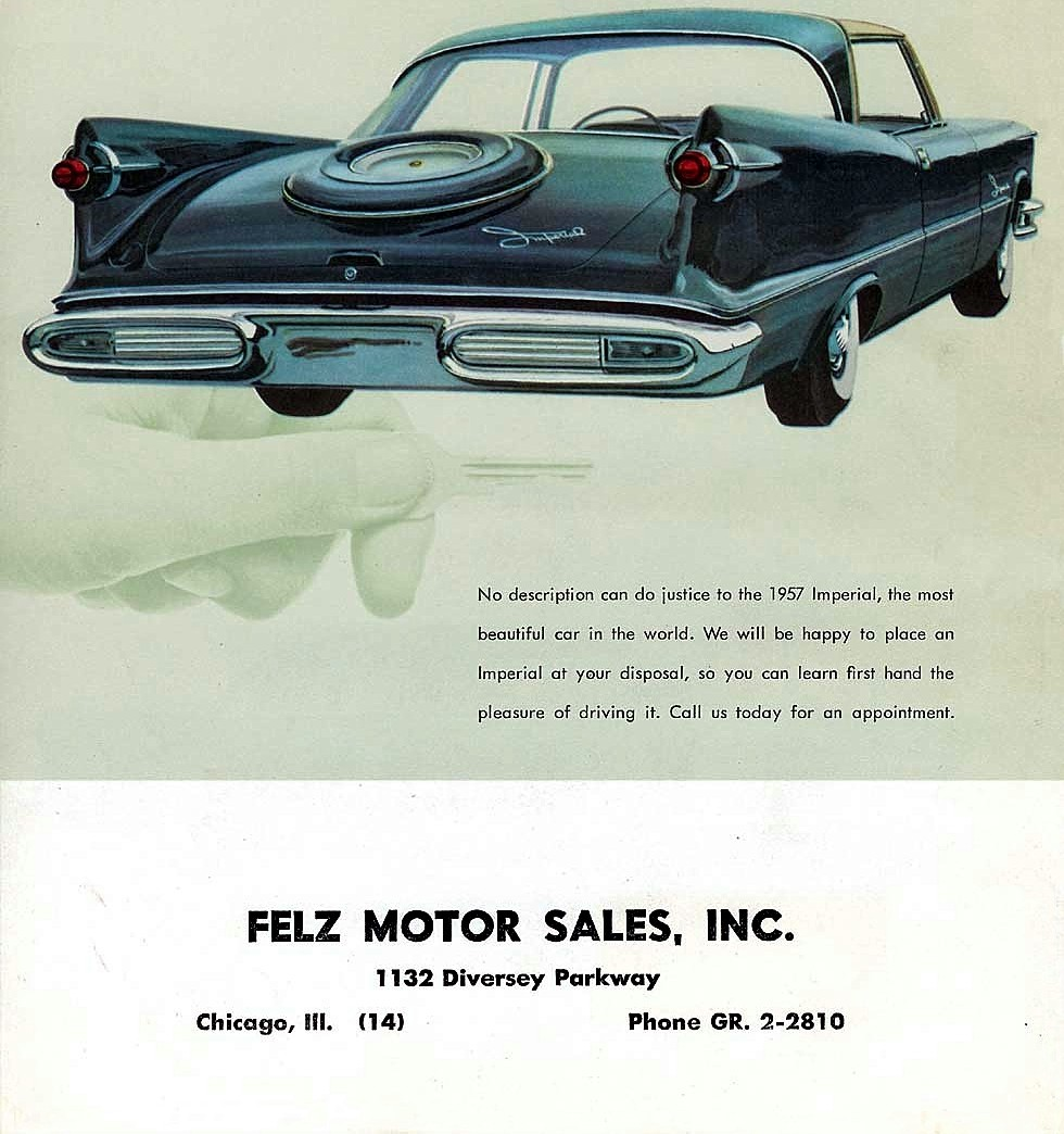 Call us today… 1957 ImperialMopar Monday