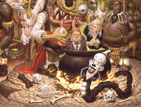 """A Pirate's Treasure Dream"" (Detail) by Todd Schorr"