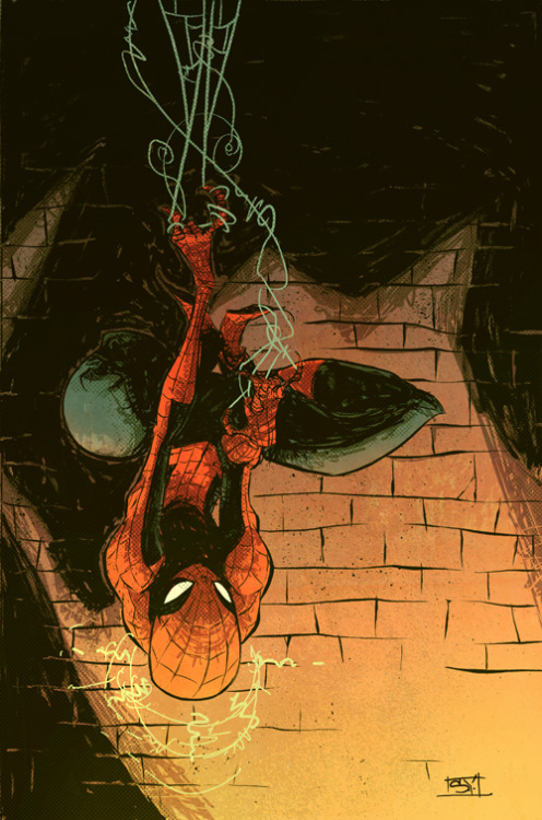 skottieyoung:  Old Spidey cover, upside down 2009