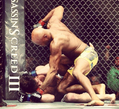 magiclogixblog:  UFC 148 Silva vs. Sonnen  There is no love lost between these two, and whether it was all mind games or it doesn't matter because Anderson Silva still came out on top. Chael Sonnen was his usual self leading up to this fight; loud, cocky and he did his best to insult Anderson Silva, his family, and his country. Insiders were starting to wonder if it was working because Anderson responded and showed his emotion and he never does that.