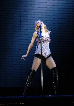 Madonna performs at the ReInvention Tour at Earls Court, London, Aug 19, 2004, HQ.