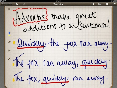 Adverbs/ sentence starts.