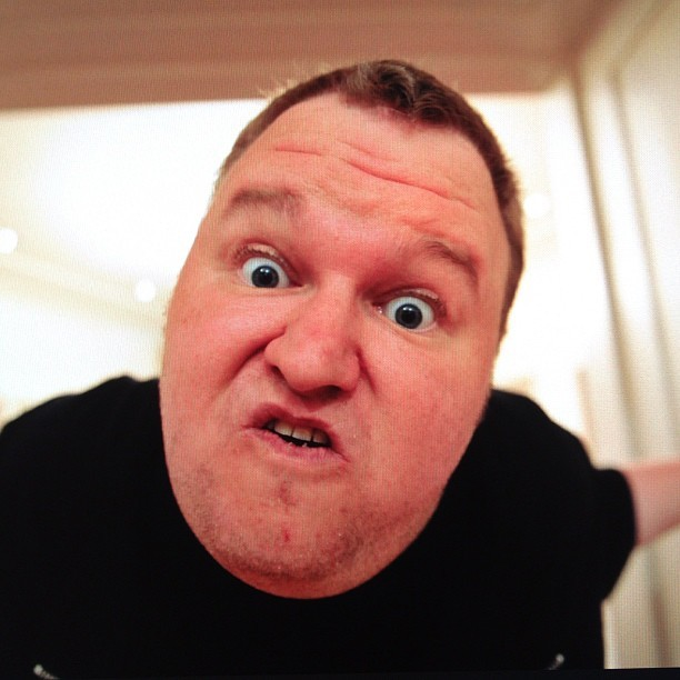 Sneak peek of Kim Dotcom's Instagram account. the MegaMan's back, bitches.