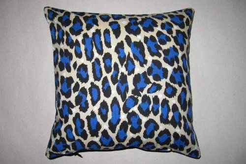 "Leopard Print Cushion Handmade cover, 12"" x 12"". Comes with cushion inner. WAS - £16 NOW - £10 www.thenightofthelivingthread.com"