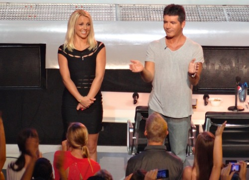 Britney Spears & Simon Cowell at Greensboro Coliseum for @TheXFactorUSA auditions!