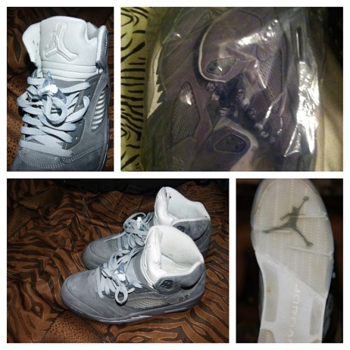 "#ForSale ! Size 10.5 ""Wolf Grey"" Jordan 5 , Hmu and we'll tall price 👌 #Sneakers #Jordans #SneakersForSale (Taken with Instagram)"