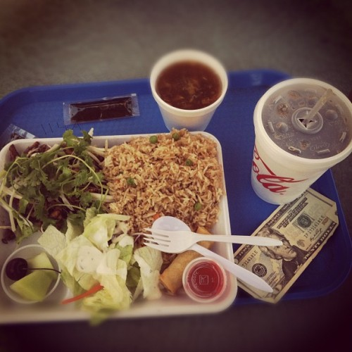 $20 & palace chicken and fried rice http://moneyfood.tumblr.com #moneyfood #money #food #chinese #lunch (Taken with Instagram at Wow Wok Healthy Chinese Dishes)