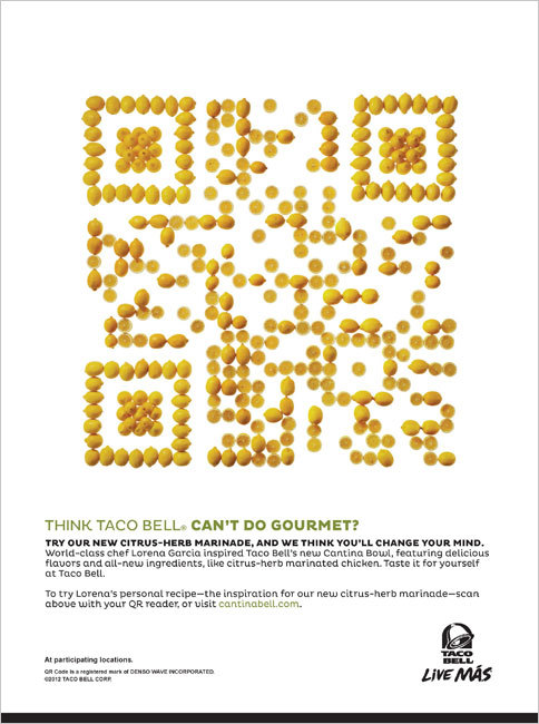 Taco Bell Whips Up QR Codes From Lemons and Avocados