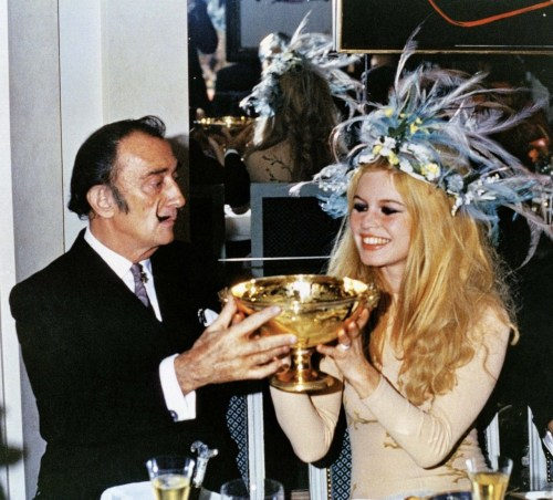 teenagejewishprostitute:  Brigitte Bardot and Salvador Dali