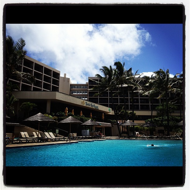 Poolside.  #hawaii #turtlebayresort #vacation (Taken with Instagram)