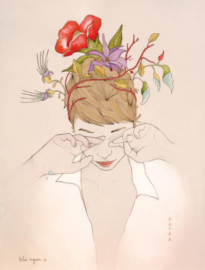 (via Flowers Art Print by Belén Segarra | Society6)