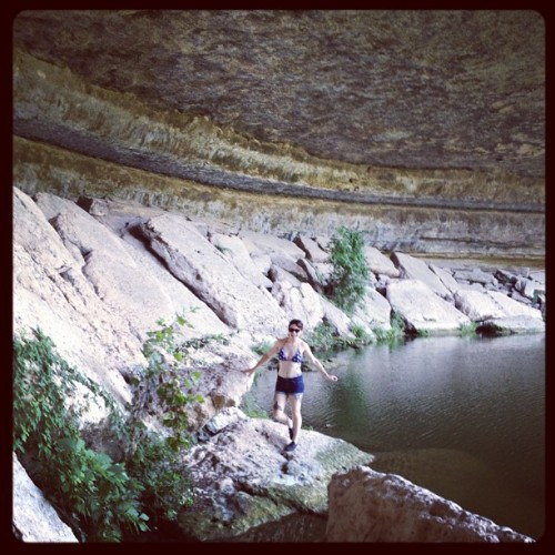 cave fairy @daniellaahhh  (Taken with Instagram at Hamilton Pool)