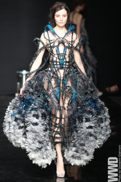 womensweardaily:  Yiqing Yin Fall Couture 2012 Having made her mark on the Paris couture scene in just two seasons, Yiqing Yin is getting ready to speak to a broader audience.  For More