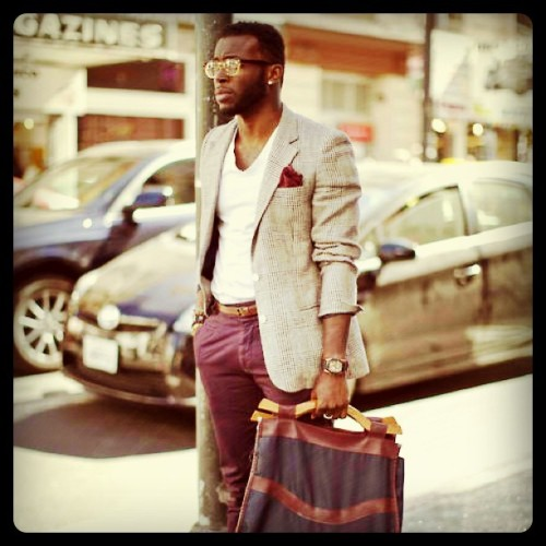 On my way from work.. I got featured in a fashion blog sixteenthandbroadway.com (Taken with Instagram)