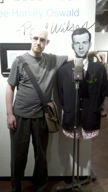 Here's me with Lee Harvey Oswald at Paul Wilson's fantastic show at Willo North Gallery in Phoenix last Friday.