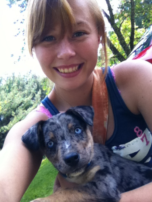Me and my puppy. His name is Diesel :)