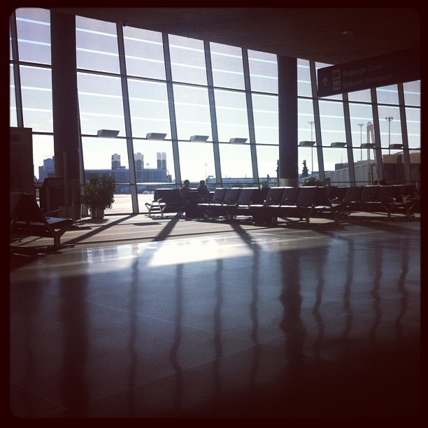 Reflections (Taken with Instagram at Terminal B - Boston Logan International Airport (BOS))