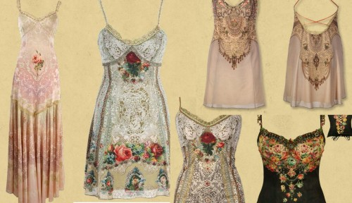 those clothes…they're from a designer called Michal Negrin, don't even bother to look it up, the dresses are about $1000 (some less) and they even have scarfs that are around $500… but oh my god they are so pretty (okay some of the clothes on the website where kind of old-fashioned, but so much detail!!!). someday I will have a wardrobe full of stuff like that.