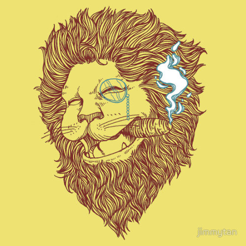 Smoking Lion by jimmytan On shirts and hoodies.