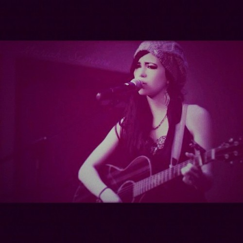 #Singing #Performing #Guitar #OnStage #Facebook (Taken with Instagram)