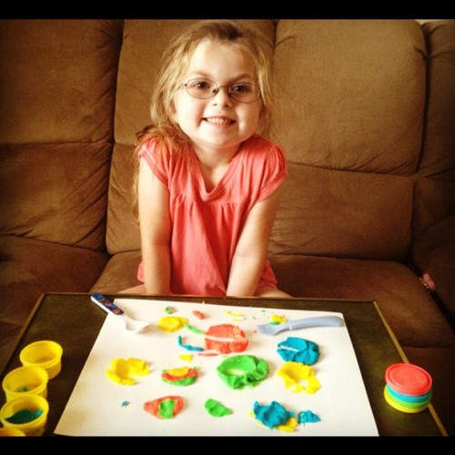 #PlayDough Time with the #adorable #Corena! #yay! #Kids #Fun #play #playtime  (Taken with Instagram)
