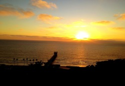 SUNSET AT THE BIRCH AQUARIUM IN LA JOLLA, CA iPhoneography Shot taken with an iPhone 4s. July 07, 2012