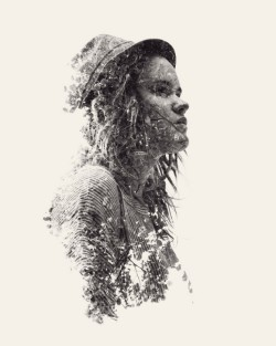 These double (and sometimes triple) exposure images by Christoffer Relander are incredibly engaging.  Source: http://www.thisiscolossal.com/2012/07/we-are-nature-new-multiple-exposure-portraits-by-christoffer-relander/