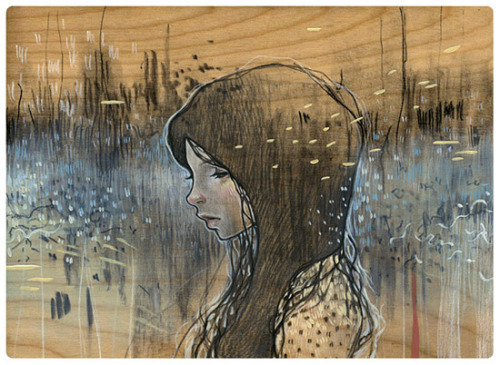 """girl in static"" by Audrey Kawasaki"