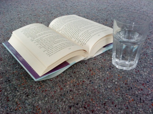 emlex04:  #DailyBookPic - Day 6 - Book and beverageClassic water. :D