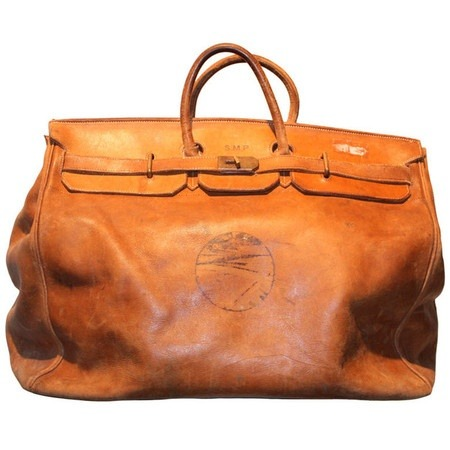 theshinysuitheory:  Hermès Antique Travel Bag