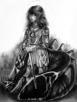 Eowyn; Graphite on paper