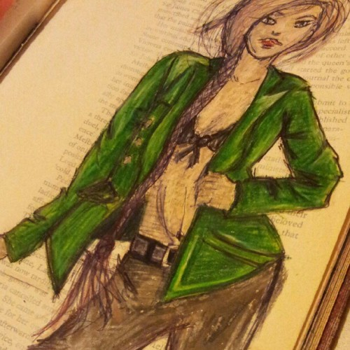 More body practice. #fashion #illustration #artjournal  (Taken with Instagram)