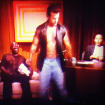 Lorenzo Lamas on The Eric Andre Show made me well up in tears laughing last night.. (Taken with Instagram at Adult Swim)
