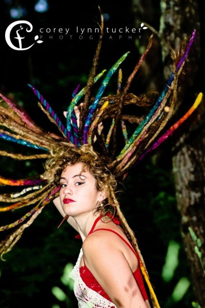 dreadgoddess:  amazing model and photographer! And my art locs look awesome! check her work out:)http://www.facebook.com/artlocs#!/coreylynntucker  Everybody give dreadgoddess a follow she makes some AMAZING wool dreads. <3