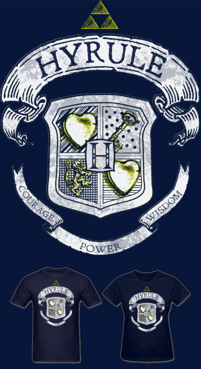 NEW Legend of Zelda Hyrule Crest T Shirt! Forget Hogwarts, Hyrule is where it's at! Available in Mens and Womens sizes. Follow Much Needed Merch on Tumblr and or Facebook (10% off code)