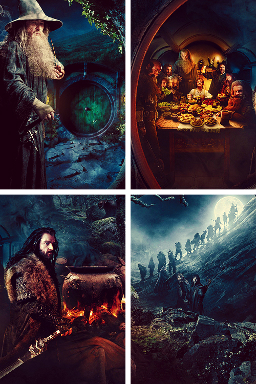 "enchantedengland:  The Hobbit: An Unexpected Journey enchantedengland:   ""Eyes that fire and sword have seen    And horror in the walls of stone   Look at last on meadows green   And trees and hills they have long known"" Chapter XIX, The Hobbit, J.R.R.Tolkien"