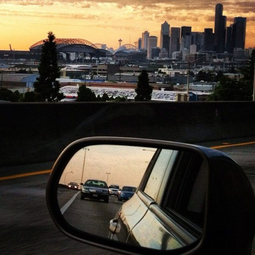 no-such-thing-as-time:  Stuck in Seattle traffic last night. Totally cool with that haha. (Taken with Instagram)