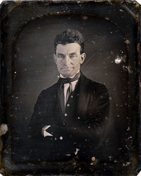 ca. 1846-47, [daguerreotype portrait of John Brown, abolitionist who led the Pottawatomie Massacre, and the raid at Harpers Ferry in 1859], August Washington  Along with another image, likely taken during the same sitting, this plate is probably the first daguerreotype taken of abolitionist John Brown, and was almost certainly taken during the same sitting as the now famous image of Brown curated at the Smithsonian Institution's National Portrait Gallery. Long-lost to history, this portrait, along with the Portrait Gallery plate, was made by the African American daguerreotypist Augustus Washington in his Hartford, Connecticut studio in 1846-47.  via Cowan's Auction